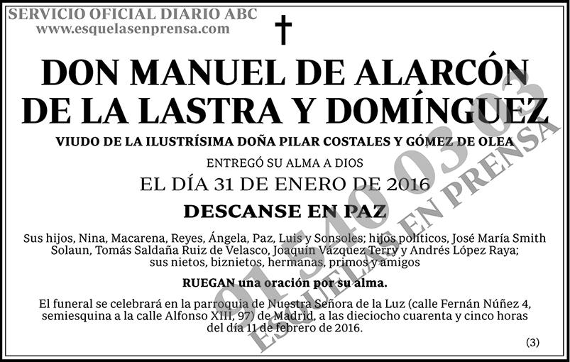 Manuel de Alarcón de la Lastra y Domínguez